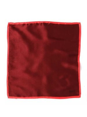 Silk Maroon and Red Pochette