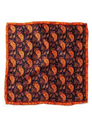 Silk Dark Orange Pochette