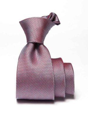 Campania Slim Structure Medium Pink Silk Ties
