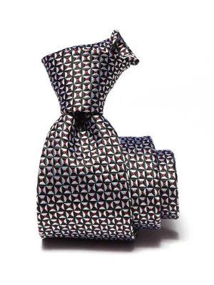 Campania Structure Black & White Silk Ties