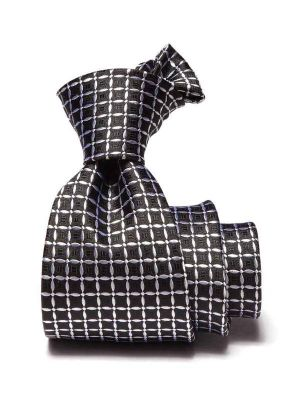 Campania Checks Black & White Silk Ties