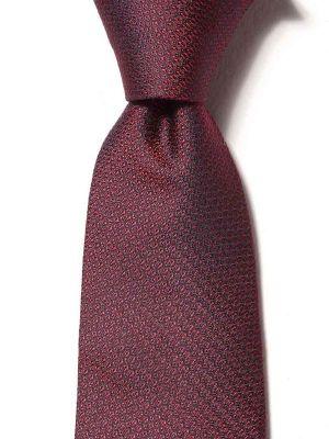 Campania Slim Structure Dark Maroon Silk Ties