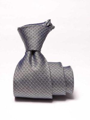 Campania Structure Black & White Silk Tie