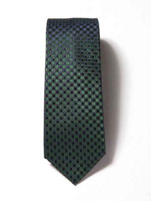 Campania Slim Checks Dark Green Silk Ties