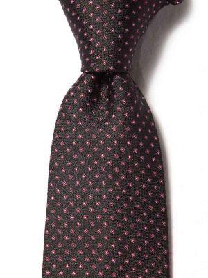 Campania Slim Structure Dark Black Silk Ties