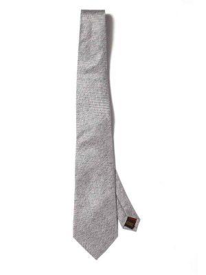 Campania Slim Structure Medium Grey Silk Ties