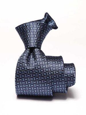 Campania Structure Medium Blue Silk Tie