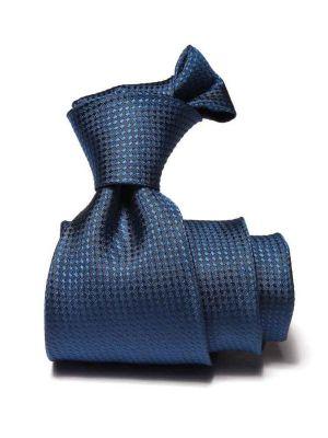 Campania Structure Navy Silk Ties