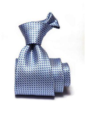 Campania Structure Medium Blue Silk Ties