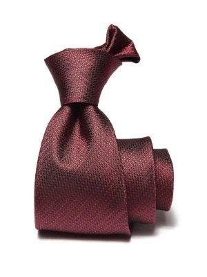 Campania Structure Dark Maroon Silk Ties