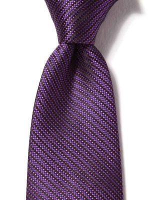 Campania Stripes Dark Purple Silk Ties