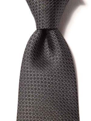 Campania Minimals Dark Black Silk Ties
