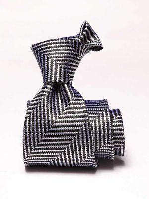 Campania Stripes Black & White Silk Ties