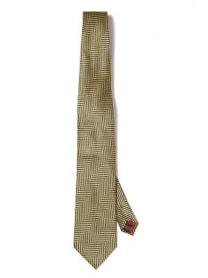 Campania Stripes Dark Gold Silk Ties