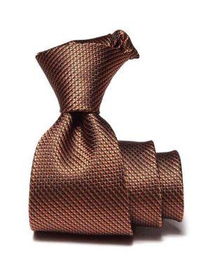 Campania Structure Dark Brown Silk Ties