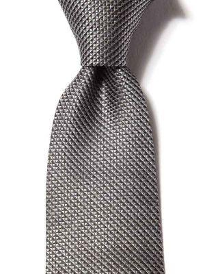 Campania Structure Medium Grey Silk Tie
