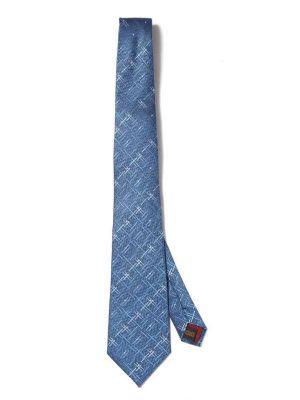 Campania Checks Medium Blue Silk Tie