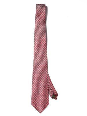 Campania Structure Medium Maroon Silk Tie