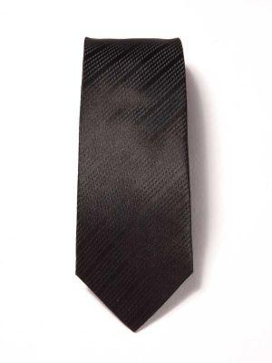 Campania Structure Dark Black Silk Ties