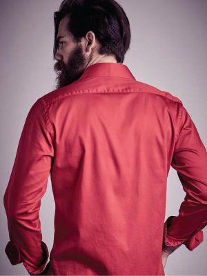 Capstan Miller Red Slim Fit Shirt