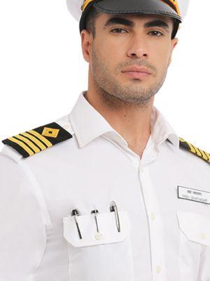 Captain White Blended Tailored Fit Shirt