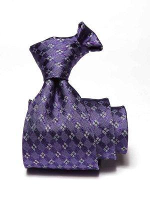 Como Checks Dark Purple Silk Tie