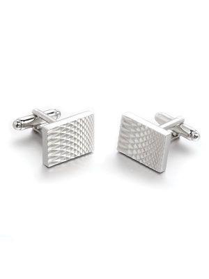 Silver Enamel Cufflinks