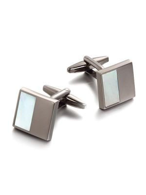 White Mother of Pearl Cufflinks