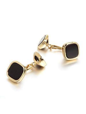 Black Stone Cufflinks