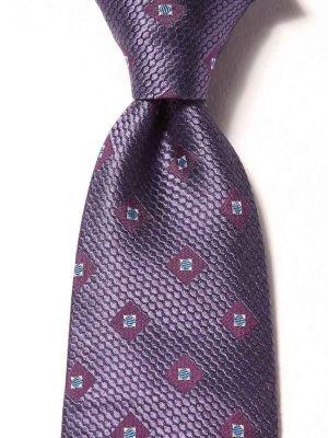 Florentine Minimals Dark Purple Silk Ties