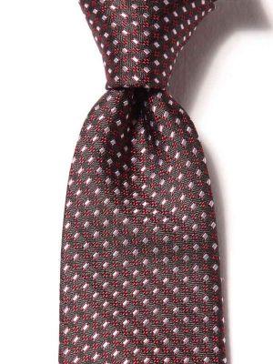 Florentine Minimals Dark Black Silk Ties