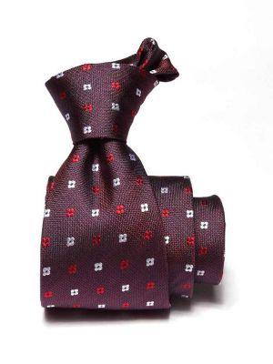 Florentine Minimals Dark Maroon Silk Tie