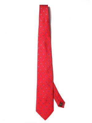 Florentine Minimals Dark Red Silk Tie