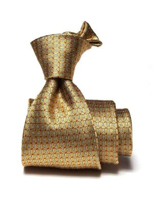 Florentine Minimals Dark Gold Silk Ties