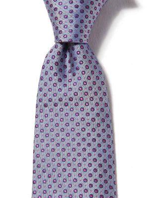 Florentine Slim Minimals Medium Blue Silk Tie
