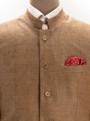 Positano Sand Linen Solids Suit