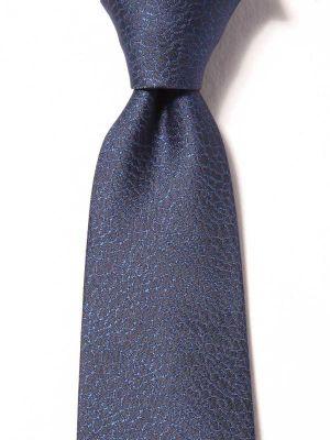 Kingcross Slim Structure Navy Polyester Tie