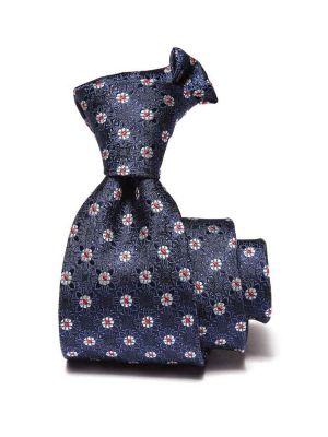 Kingcross Slim Structure Navy Polyester Ties