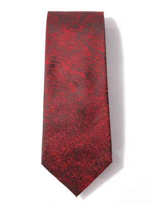 Kingcross Slim Structure Dark Red Polyester Ties
