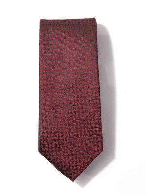 Kingcross Slim Structure Dark Maroon Polyester Tie