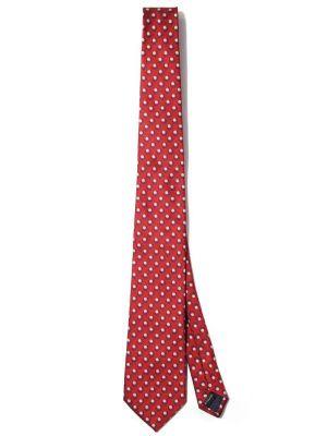 Kingcrest Slim Minimals Dark Red Polyester Ties