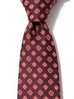 Kingcrest Slim Minimals Medium Maroon Polyester Ties