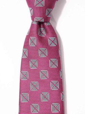 Kingcrest Slim Minimals Dark Pink Polyester Tie