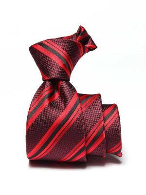 Kingsford Slim Striped Maroon Polyester Ties