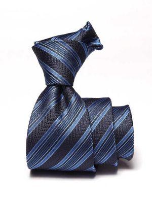 Kingsford Slim Striped Navy Polyester Ties