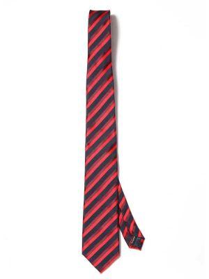 Kingsford Slim Stripes Dark Red Polyester Ties
