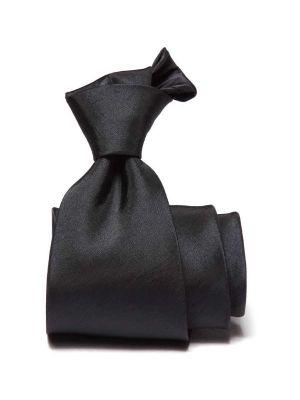 Kingston Slim Solid Dark Blue Polyester Tie