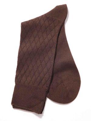 Checks Brown Socks