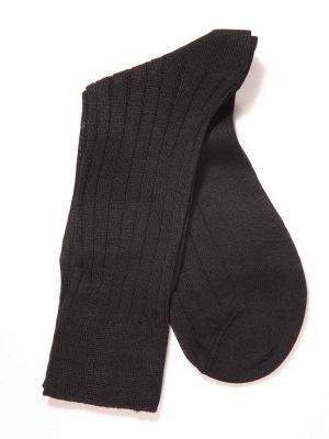 Rib Black Socks