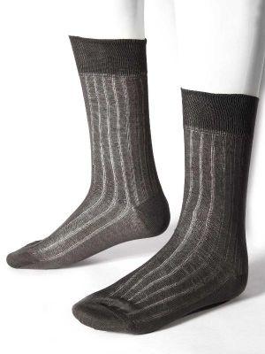 Rib Dark Grey Socks